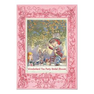 Pink Mad Hatter's Tea Party Bridal Shower Invitation starting at 2.66