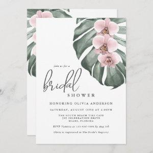 Pink Orchids Tropical Paradise Bridal Shower Invitation starting at 2.51