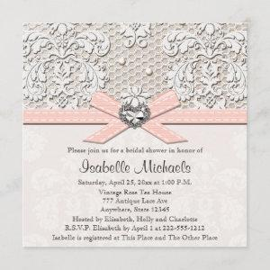 Pink Pearl Lace Diamond Bridal Shower starting at 2.51