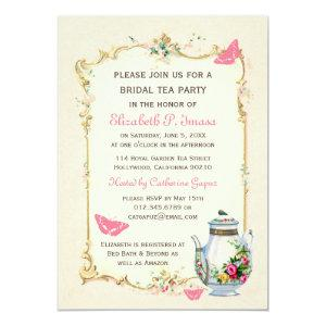 Pink Vintage French Bridal Tea Party Invitation starting at 2.51