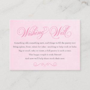 Pink Wishing Well Insert Card Wedding / Shower starting at 0.75