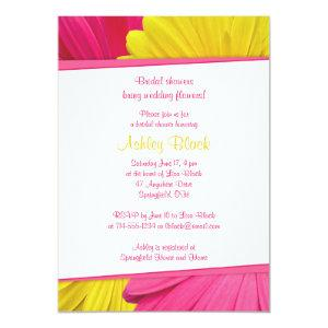 Pink Yellow Daisy Wedding Bridal Shower Invitation starting at 2.66