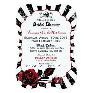 Pirate Wedding Goth Roses Bridal Shower Invitation starting at 3.02
