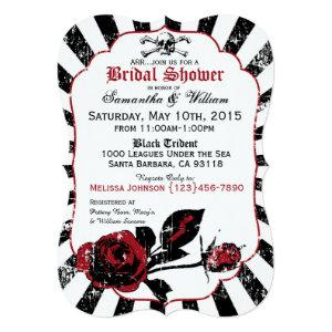 Pirate Wedding Goth Roses Bridal Shower Invitation starting at 3.07