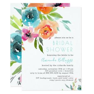 PixDezines Bridal Shower Watercolor Summer Floral Invitation starting at 2.61