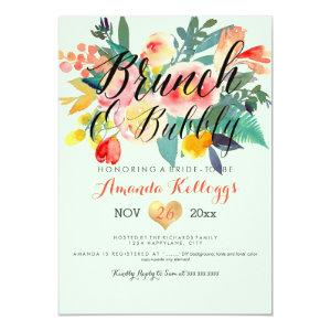 PixDezines Brunch & Bubbly Spring Floral/Coral+Min Invitation starting at 2.61