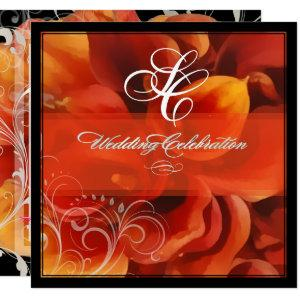PixDezines burnt orange calla lily Invitation starting at 2.40