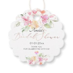 PixDezines Watercolor Sweetpea Bridal Shower Favor Tags starting at 14.30