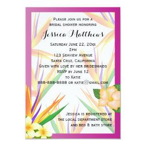 Plum Bird of Paradise Bridal Shower Wedding Invitation starting at 2.31
