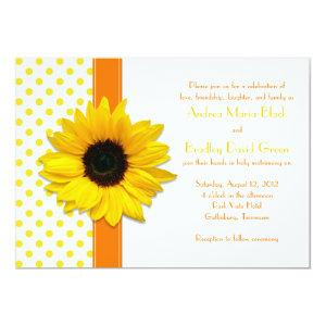 Polka Dot Sunflower Wedding Invitation starting at 2.66