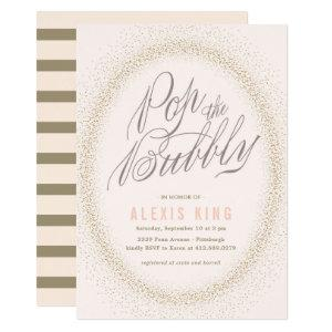 Pop The Bubbly Confetti Bridal Shower Invitation starting at 2.51