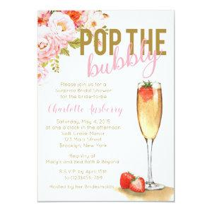 Pop The Bubbly Floral Bridal Shower Invitation starting at 2.82
