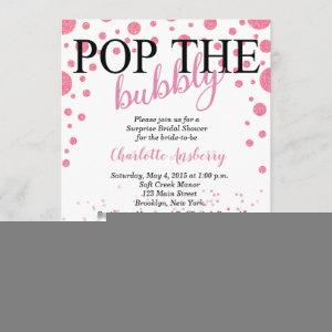 Pop the Bubbly Rose Gold Bridal Shower Invitation starting at 2.82