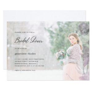 Pretty Floral Overlay Bridal Shower Photo Invitation starting at 2.51