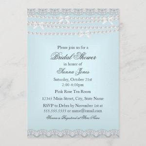 Pretty Lace & Pearl Blue Bridal Shower starting at 2.66