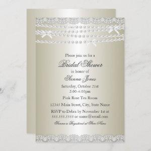 Pretty Lace & Pearl Bridal Shower starting at 2.55