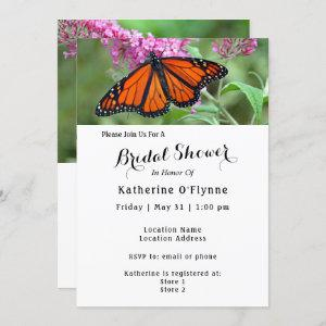 Pretty Monarch Butterfly Pink Floral Bridal Shower Invitation starting at 2.40