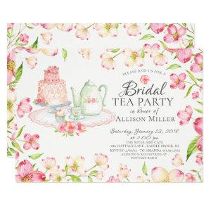 Pretty Pink Floral Bridal Tea Party Invitation starting at 2.40
