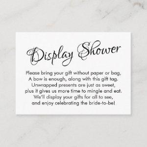 Pretty, White No Wrap Bridal Shower Gift Card starting at 0.35
