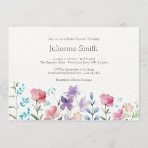 Pretty Wildflowers Beautiful Floral Bridal Shower Invitation starting at 2.85