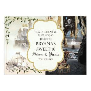 Princess & Pirate Elegant Party Invitations starting at 2.87