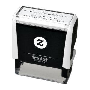 Professional or Personal Elegant Return Address Self-inking Stamp starting at 14.75