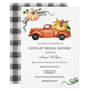 Pumpkin Autumn Truck Drive by Bridal Shower Invitation starting at 2.55