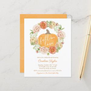 Pumpkin Floral Fall in Love Fall Bridal Shower Inv starting at 0.61