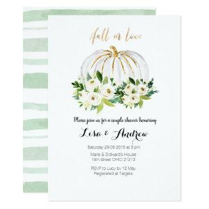 Pumpkin Greenery Fall in Love Couples Shower Invitation starting at 2.66