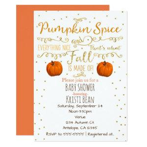 Pumpkin Spice & Everything Nice Fall Invitations starting at 2.51