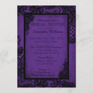 Purple and Black Lace Gothic Bridal Shower Invitation starting at 2.82