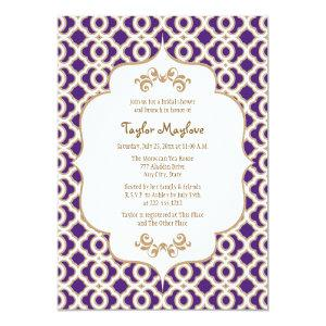 Purple and Gold Moroccan Bridal Shower Invites starting at 2.66