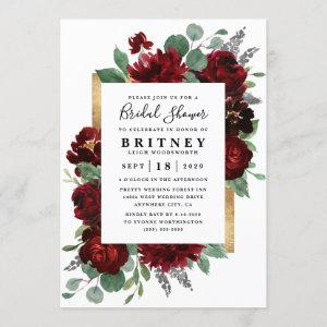 Purple and Gray Silver Watercolor Bridal Shower Invitation starting at 2.25