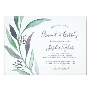 Purple and Green Eucalyptus Brunch and Bubbly Invitation starting at 2.51