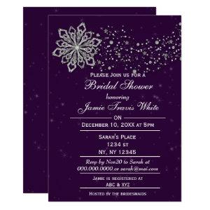 Purple and Silver Winter Bridal shower invite starting at 2.50