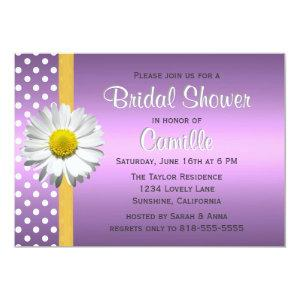 Purple and Yellow Daisy Bridal Shower Invitation starting at 2.51