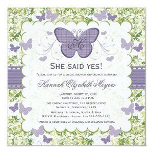 Purple Butterfly Bridal Shower Invitations Invites starting at 2.51