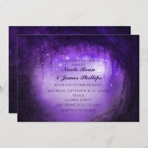 Purple Enchanted Forest Tree Fantasy Invitations starting at 2.82