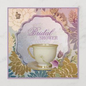 purple floral Bridal Shower Tea Party Invitation starting at 2.67
