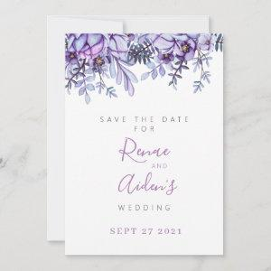 Purple Floral Save the date card starting at 2.46