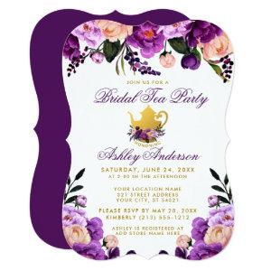 Purple Gold Bridal Shower Tea Party Invite BP starting at 2.76