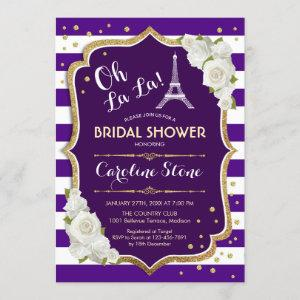 Purple Gold French Style Bridal Shower starting at 2.35