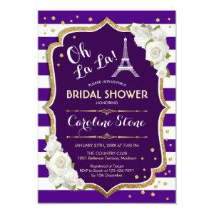 Purple Gold French Style Bridal Shower Invitation starting at 2.35