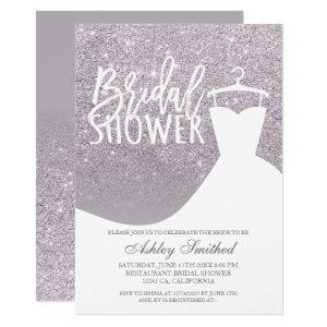 Purple lilac glitter elegant dress Bridal shower Invitation starting at 2.40