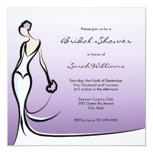 Purple Ombre Bridal Shower Invitations starting at 2.51