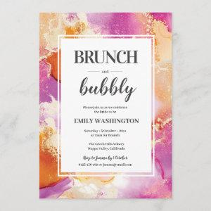Purple, orange and gold Brunch & Bubbly Invitation starting at 2.51