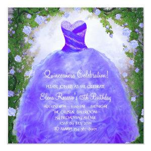 Purple Roses Purple Quinceanera Invitations starting at 2.51
