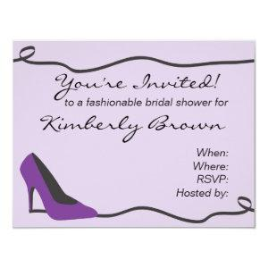 Purple Shoe Bridal Shower Invitation starting at 2.21