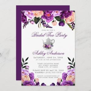 Purple Ultra Violet Bridal Shower Tea Party Invite starting at 2.51