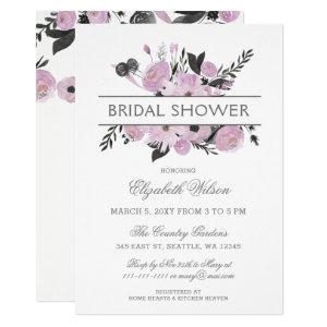 Purple Watercolor Floral Spring Bridal Shower Invitation starting at 2.50